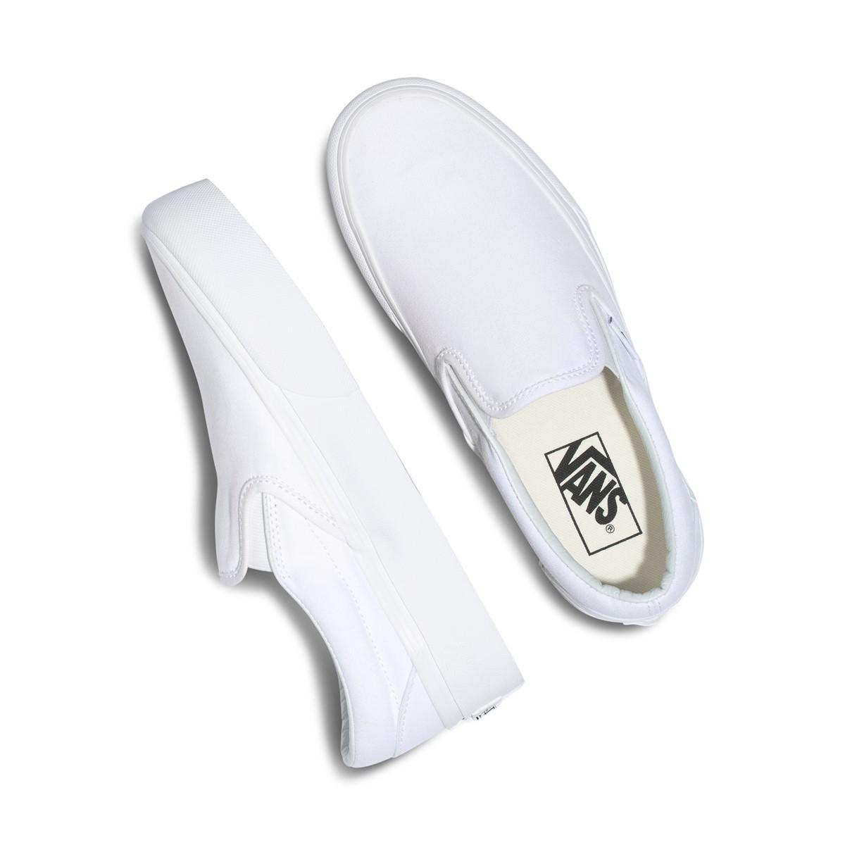 Baskets Platform Slip-Ons blanches pour femmes | Little Burgundy