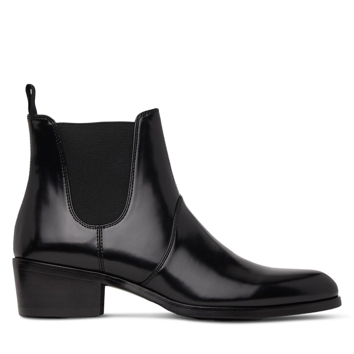 Women's Oslo Heeled Chelsea Boots in Black