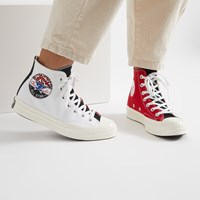 Women's Chuck 70 Hi Sneakers in Red and White