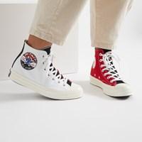 Baskets Chuck 70 Hi rouge et blanc pour femmes