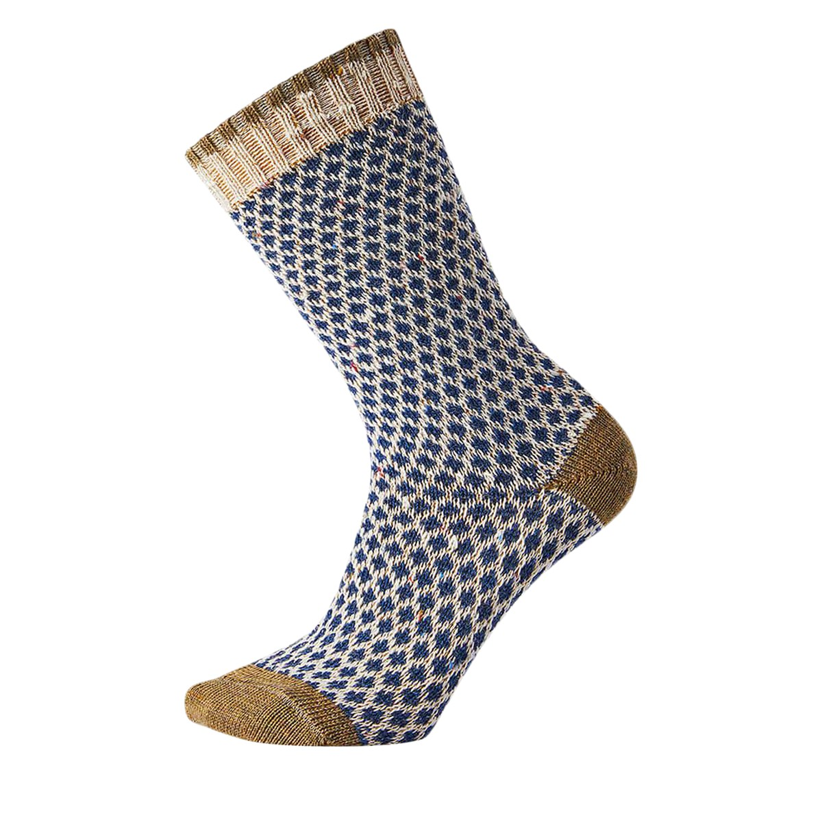 Women's Popcorn Polka Dot Crew Socks in Brown