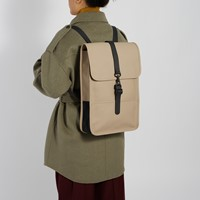 Mini Backpack in Beige