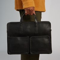 Men's Soren Briefcase in Black