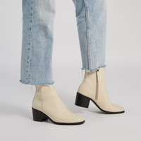 Women's Miriam Heeled Boots in Cream