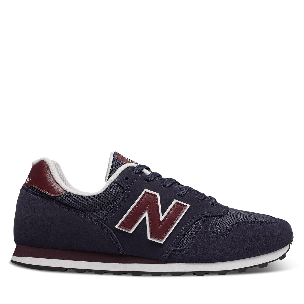 Men's 373 Sneakers in Navy Blue/Burgundy