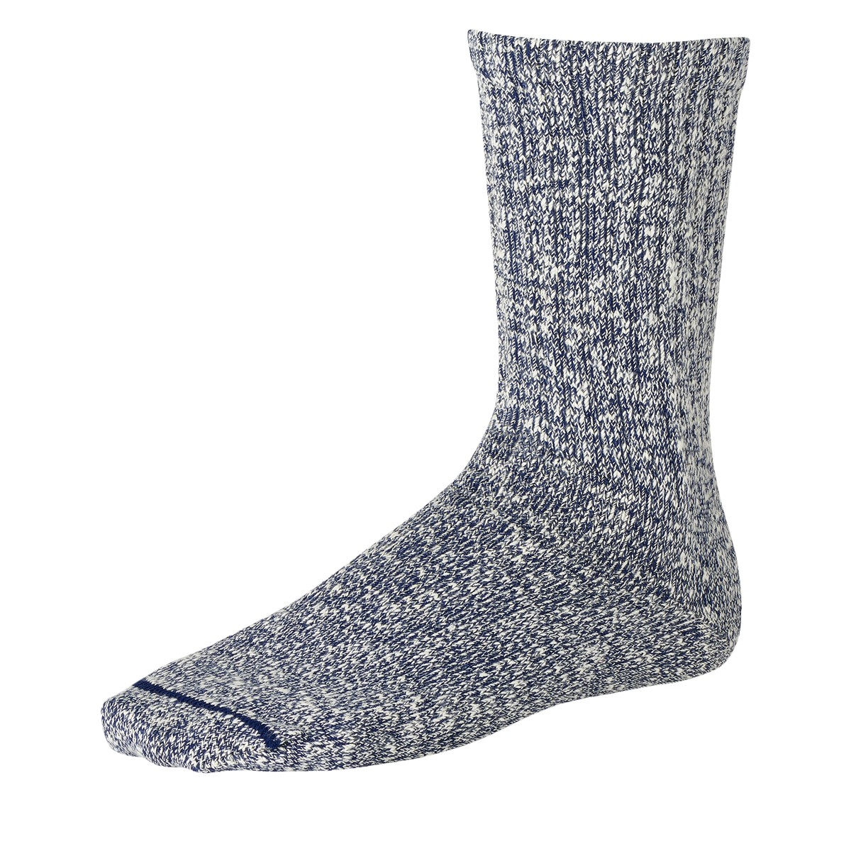 Cotton Ragg Crew Socks in Navy