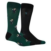 Men's Mini Martini Bear Slack Socks