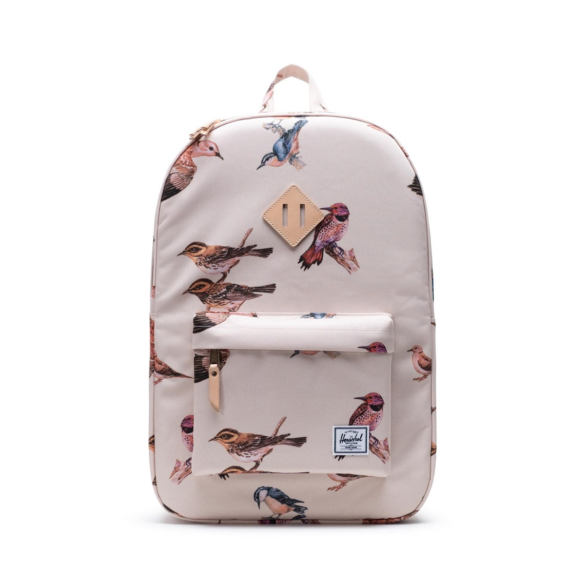 Bird Print Heritage Backpack in Cream