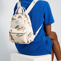 Bird Print Nova Mini Backpack in Cream