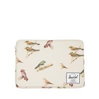 Pochette Anchor pour portable 13 pouces crème à motifs d'oiseaux