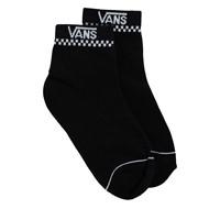 Women's Peek-A-Check Crew Socks in Black