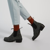 2064 Women's Series Heel Boots in Rustic Black