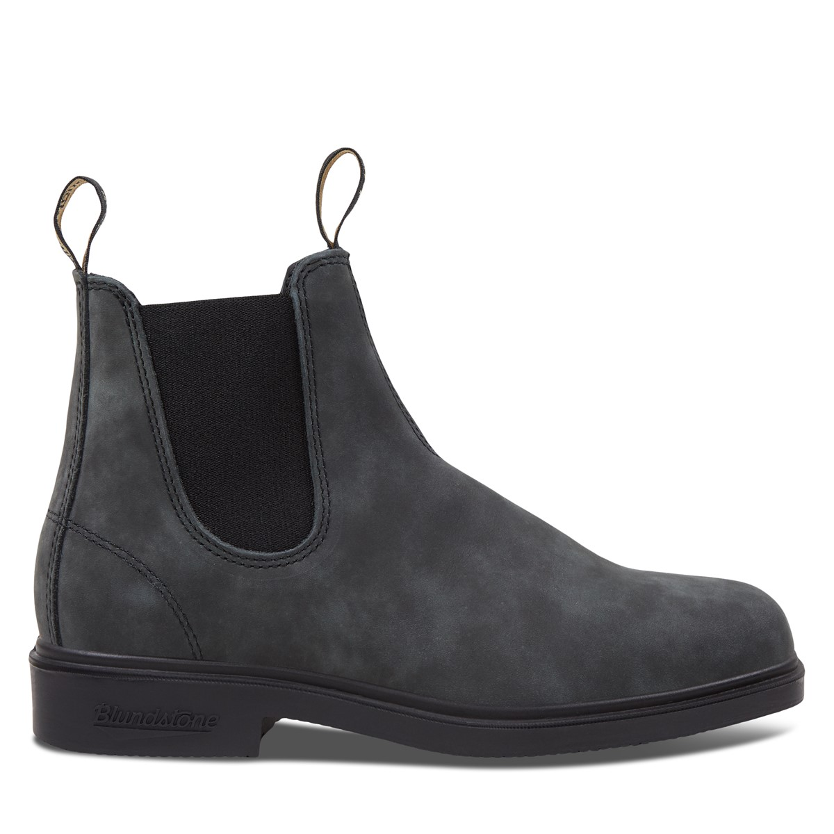 1308 Chisel Toe Chelsea Boots in Rustic Black