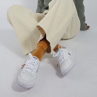 Women's Club C 85 Sneakers in White/Blue
