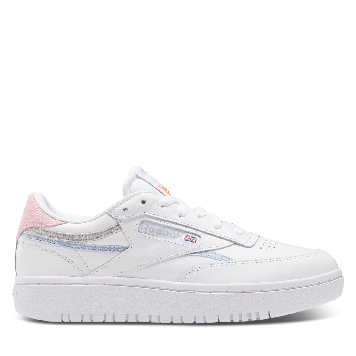 Women's Club C Double Sneakers in White/Lilac