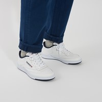 Men's Club C 85 Sneakers in White/Navy Blue
