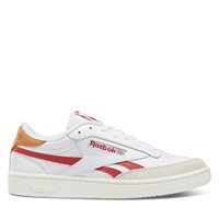 Men's Club C Revenge Sneakers in White/Red