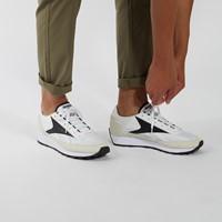 Men's AZ Runner Sneakers in White/Black