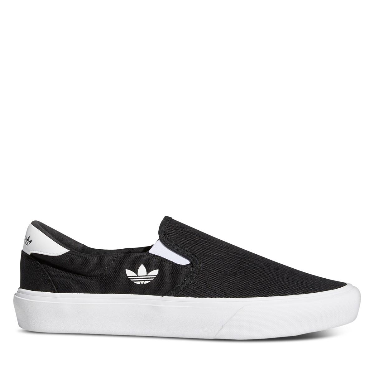 Men's Court Rallye Slip-on Sneakers in Black/White