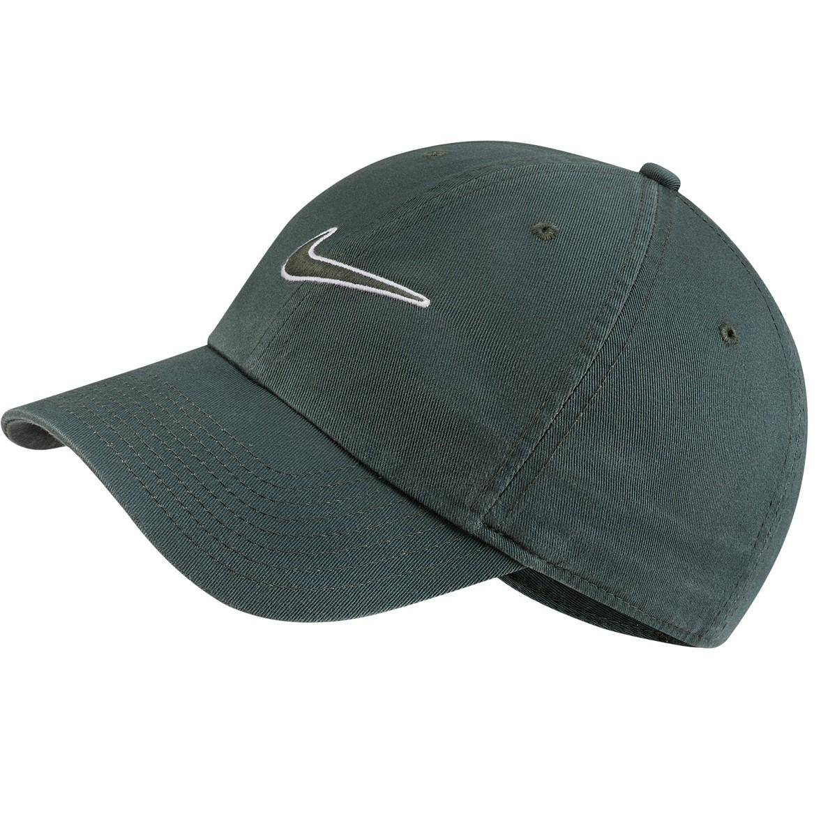 H86 Essential Swoosh Cap in Green