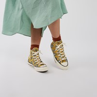 Women's Chuck 70 Hi Sneakers in Yellow Floral