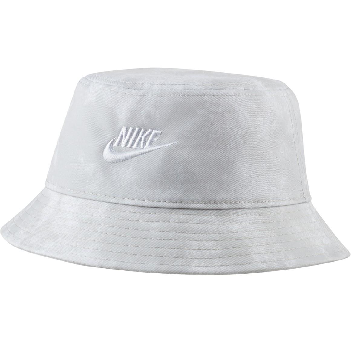 Sports Wear Bucket Hat in White Tie Dye