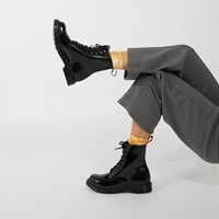 Women's 1460 Mono Patent Boots in Black