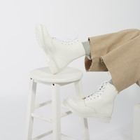 Women's 1460 Mono Patent Boots in White