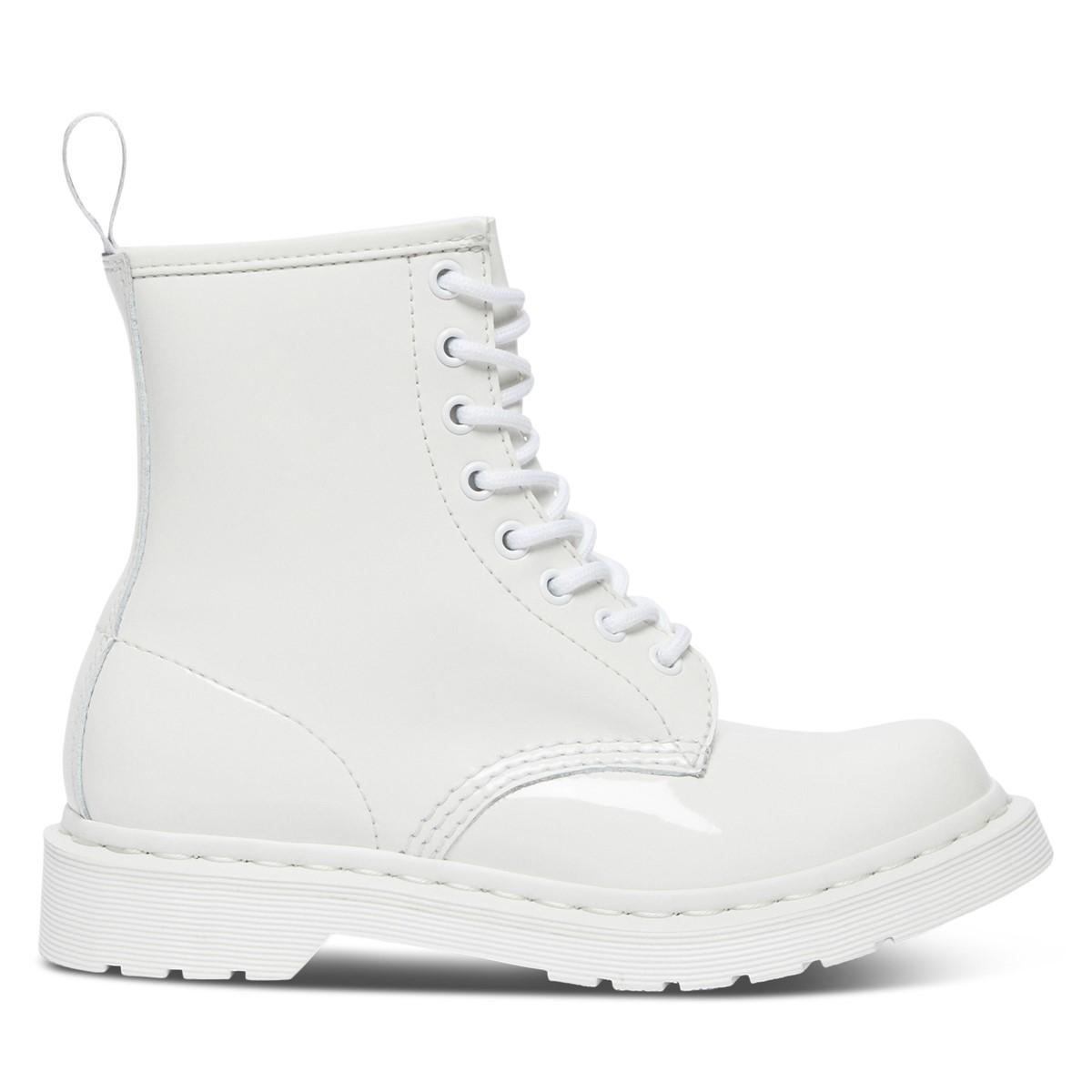 Women's 1460 Mono Patent Boots in White