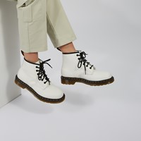 Women's 101 Yellow Stitch Boots in White