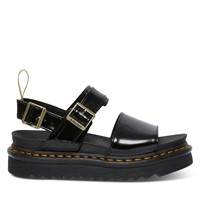 Women's Vegan Voss Platform Sandals in Black