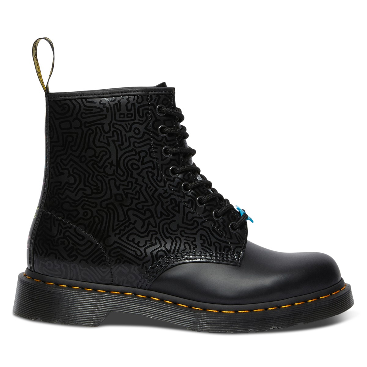 Keith Haring x Dr. Martens 1460 Boots in Black