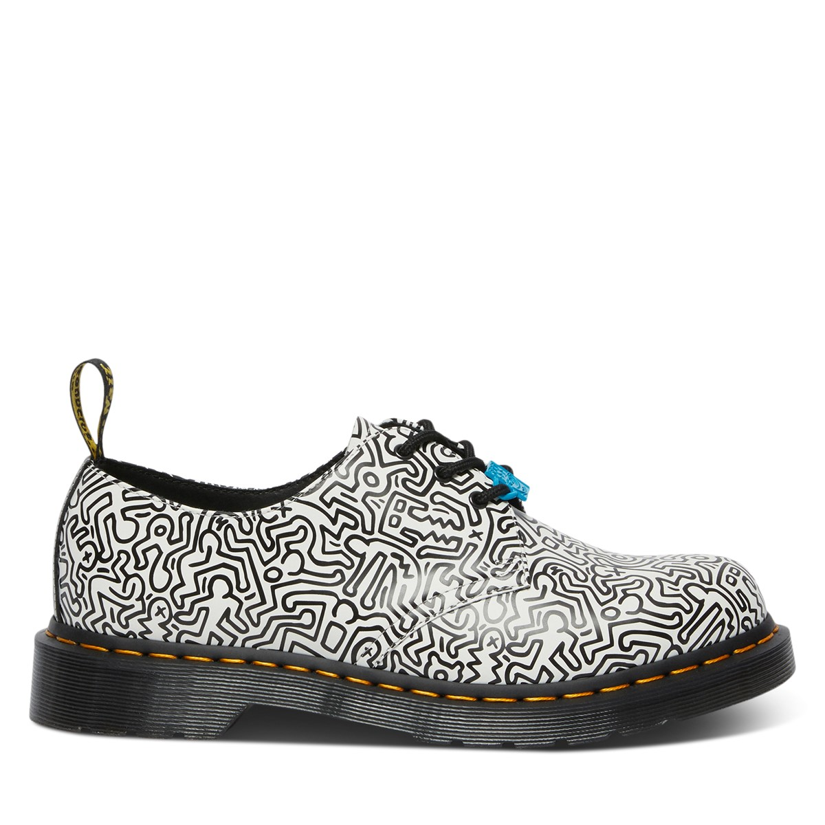 Keith Haring x Dr. Martens 1461 Oxford Shoes in White/Black