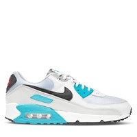 Men's Air Max 90 Sneakers in White/Blue/Red