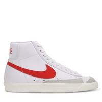 Baskets Blazer Mid 77 blanc et rouge pour femmes