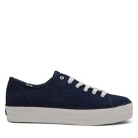Women's Triple Kick Sneakers in Denim