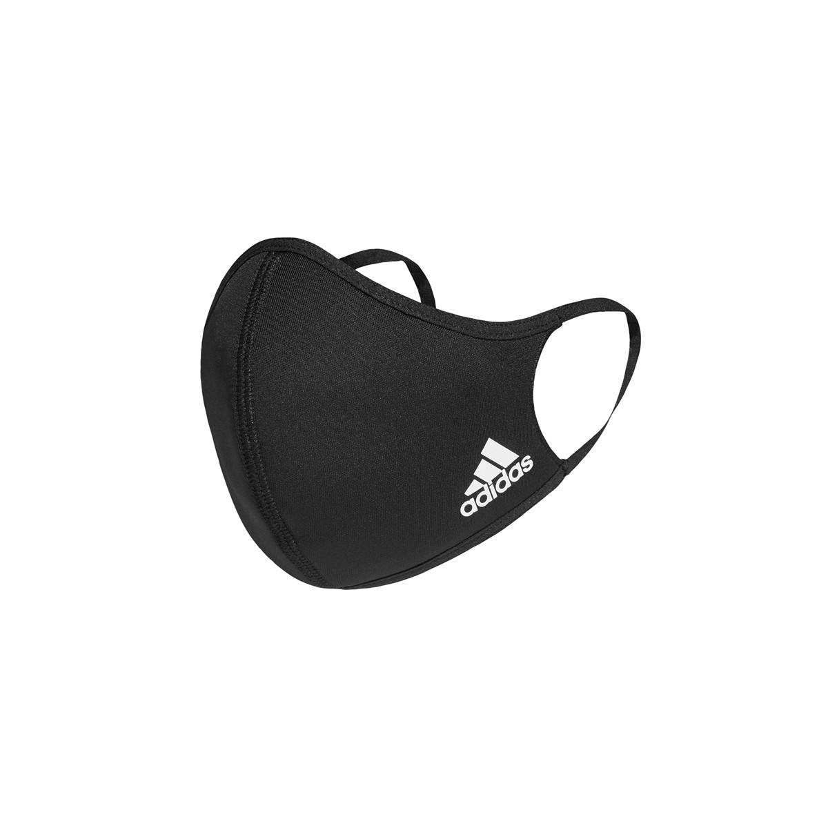Men's 3-Pair Face CVR Mask in Black