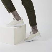 Men's Suede Classic Sneakers in Off-White