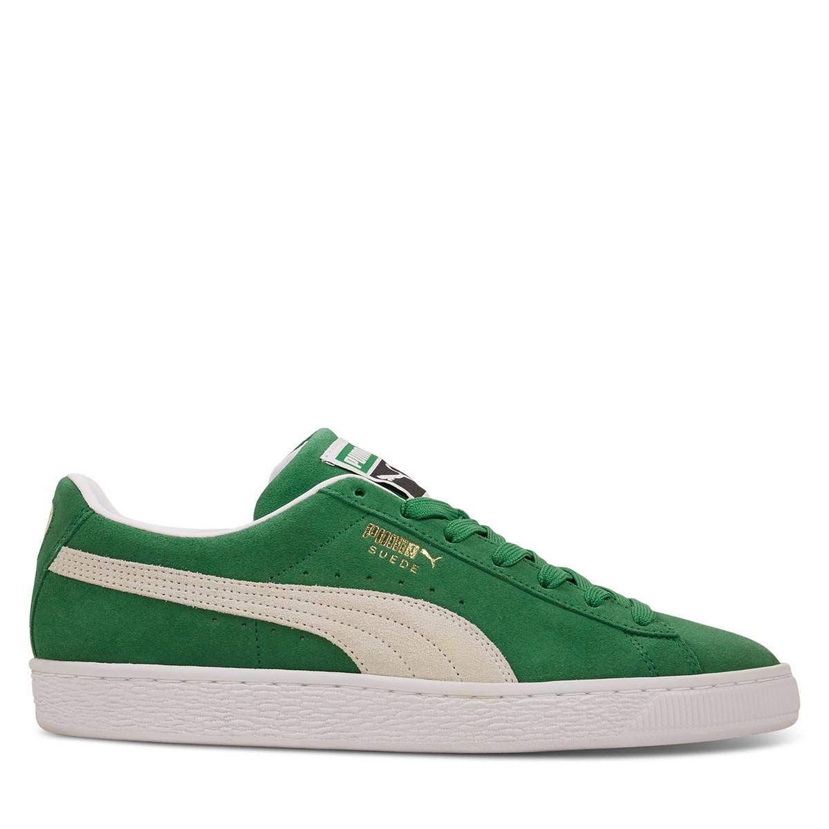 Men's Suede Classic Sneakers in Green
