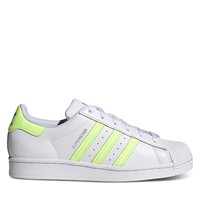 Women's Superstar Sneakers in White/Yellow