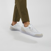 Men's Club C Legacy Sneakers in White/Light Grey