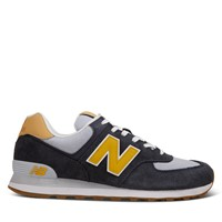 Men's 574 Sneakers in Navy/Yellow