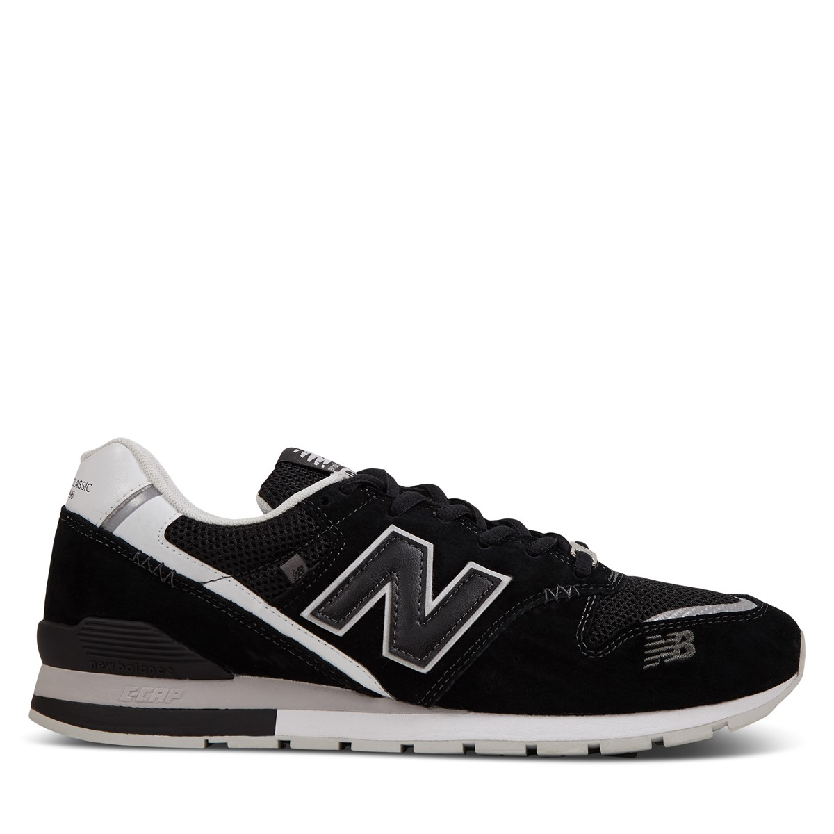 Men's 996 Sneakers in Black/White