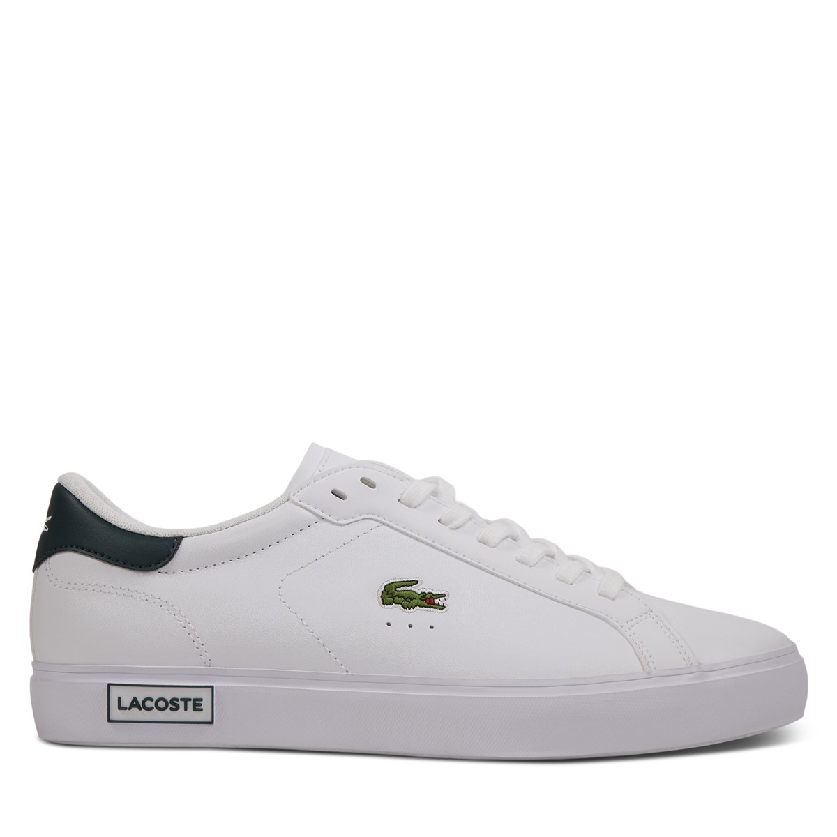 Men's Power Court Sneakers in White/Black