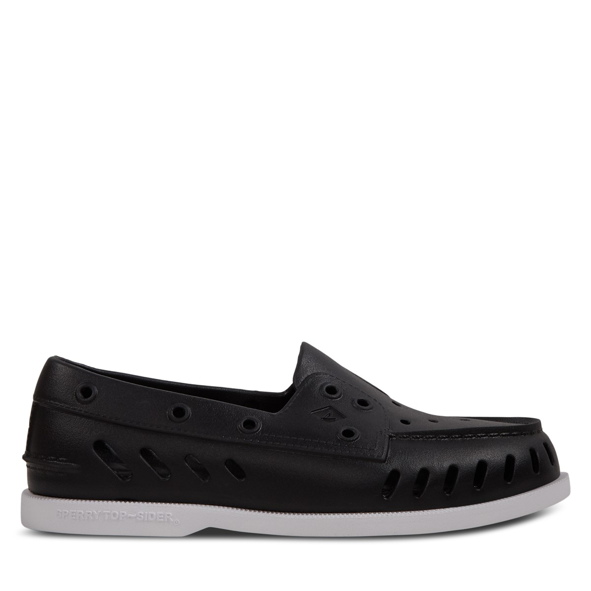Women's Authentic Original Float Slip-On Boat Shoes in Black/White