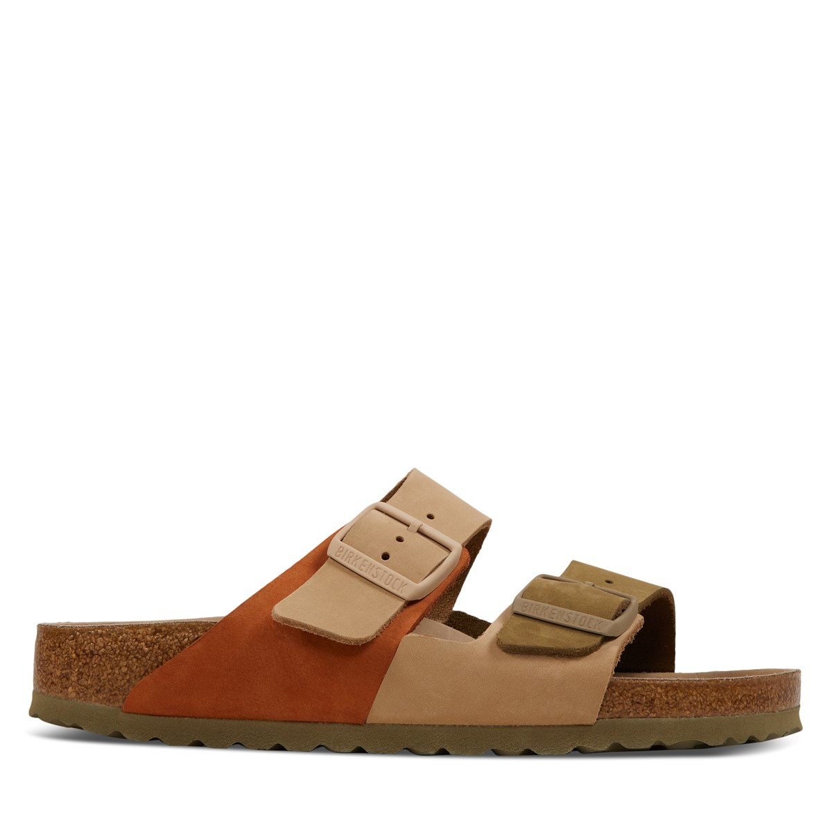 Women's Arizona Slipt HEX Sandals in Beige/Khaki
