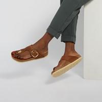 Women's Gizeh Big Buckle Sandals in Cognac