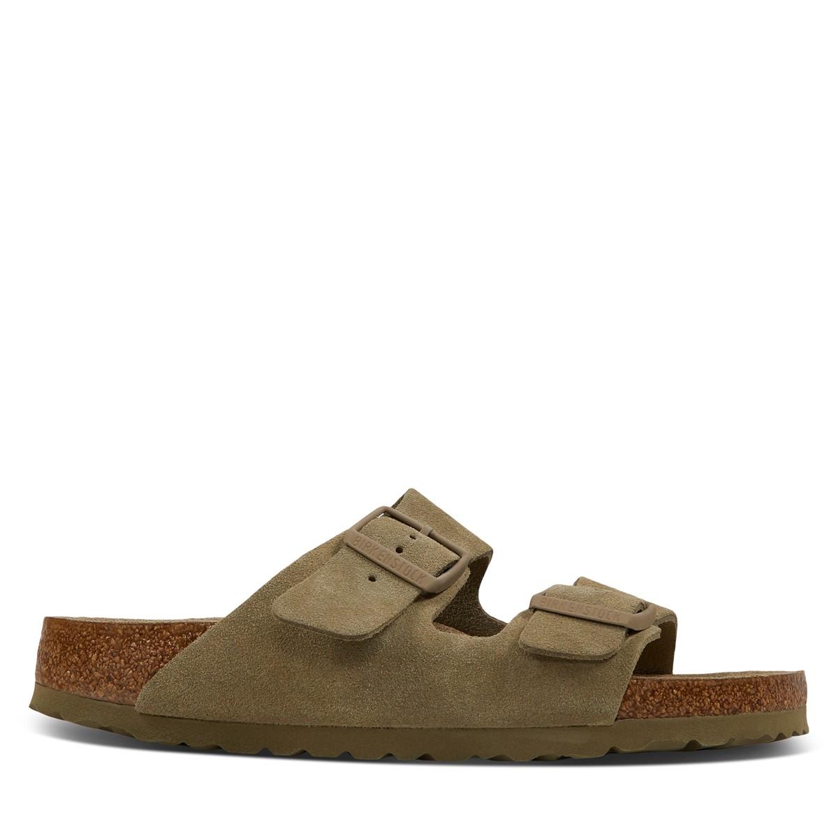 Women's Arizona Soft Sandals in Khaki