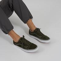 Men's Old Skool Sneakers in Olive Suede