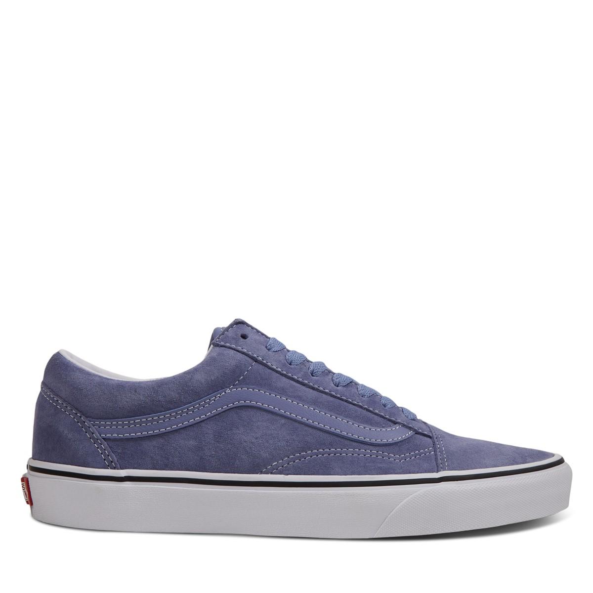 Men's Old Skool Sneakers in Blue Suede